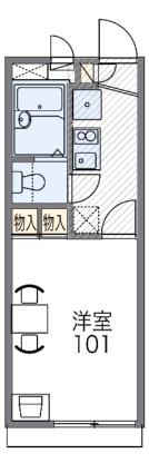 レオパレス宮丘[1K/19.87m2]の間取図