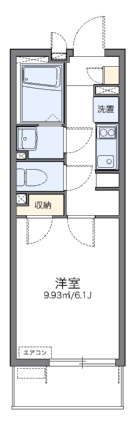 レオネクストクレール長田[1K/21.11m2]の間取図