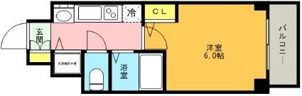 プレサンス神戸西スパークリング[1K/20.8m2]の間取図