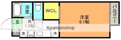 flat大村Ⅲ[1K/20m2]の間取図