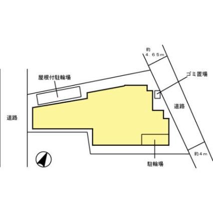 マグノリアパレス[1K/25.87m2]の配置図