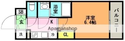 エスリード神戸兵庫駅マリーナスクエア[1K/21.31m2]の間取図