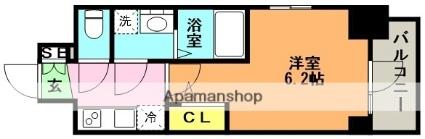 エスリード神戸グランドール[1K/21.75m2]の間取図