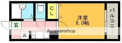 兵庫県神戸市灘区備後町2丁目[1K/20.19m2]の間取図