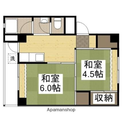 兵庫県多可郡多可町中区森本[2K/32m2]の間取図