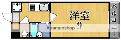 グレース木津川台[1K/24m2]の間取図