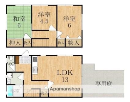 コンフォート朱雀III[3LDK/72.2m2]の間取図