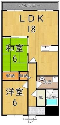 メゾン田井新町[2LDK/68m2]の間取図