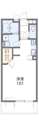 レオネクストエムティ逢坂Ⅱ[1K/29.81m2]の間取図