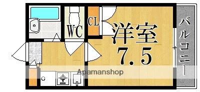 レオパレス冨田[1K/23.18m2]の間取図