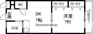 ロジュマン・ロータリー[1DK/29.37m2]の間取図