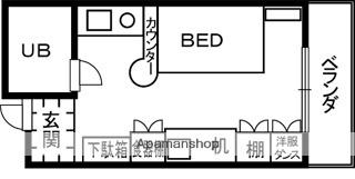 和歌山県和歌山市鷺ノ森堂前丁[1R/17.35m2]の間取図