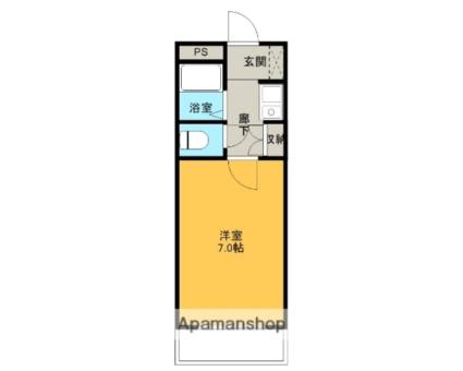 センターマンション[1K/18.2m2]の間取図