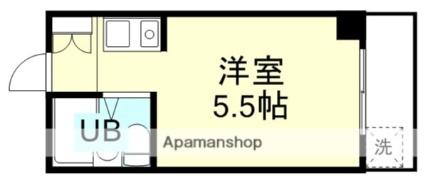 和歌山県和歌山市四筋目[1R/13.87m2]の間取図