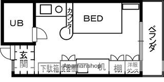 シティ鷺ノ森[1R/17.35m2]の間取図