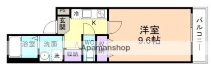 フジパレス城北Ⅵ番館[1K/30.08m2]の間取図