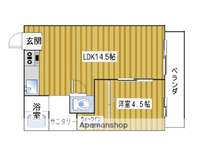 ガーデンハイツM2[1LDK/44.2m2]の間取図