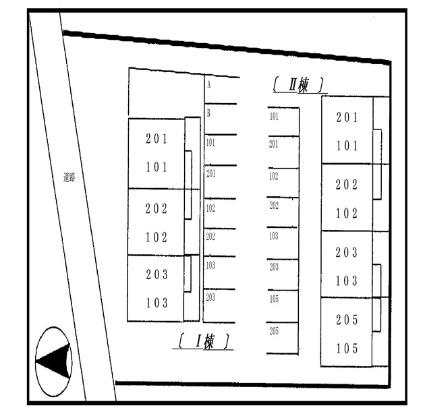 リバティツインⅡ[2DK/46.13m2]の配置図