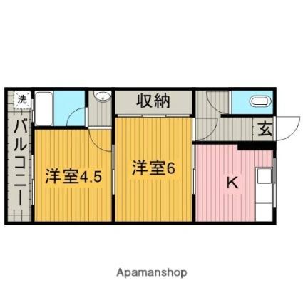 和歌山県田辺市新万[2K/37.19m2]の間取図