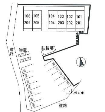 サニーウエルス[1K/30.03m2]の配置図