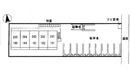 リバーサイド安長[1K/26.78m2]の配置図