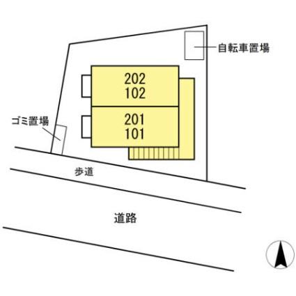 鳥取県鳥取市湖山町南5丁目[1R/30.27m2]の配置図