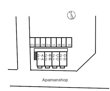 鳥取県米子市大工町[1K/24.71m2]の配置図