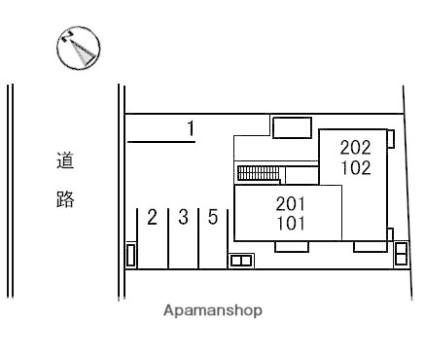 鳥取県米子市夜見町[1LDK/41.14m2]の配置図