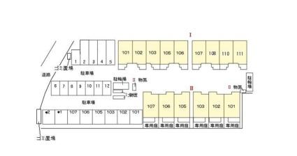 リュール西津田Ⅱ[2LDK/64.93m2]の配置図