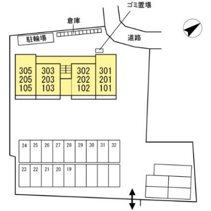 El viento KSⅡ[1LDK/42m2]の配置図