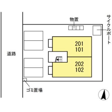 リアン[1LDK/37.09m2]の配置図