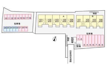 インプレス A[2LDK/57.63m2]の配置図