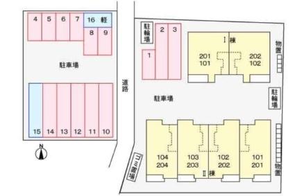 アン ソレイユⅠ[1LDK/48.91m2]の配置図