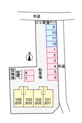 エレガンテ・ブリッサ[1LDK/35.55m2]の配置図