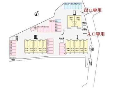 ステーションヒルズ Ⅲ[1LDK/42.8m2]の配置図