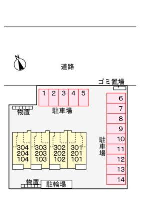 ドルチェ カーサ[1LDK/53.33m2]の配置図