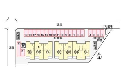 エミネンス A[1LDK/49.01m2]の配置図