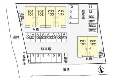 ファーイーストB[2LDK/65.37m2]の配置図