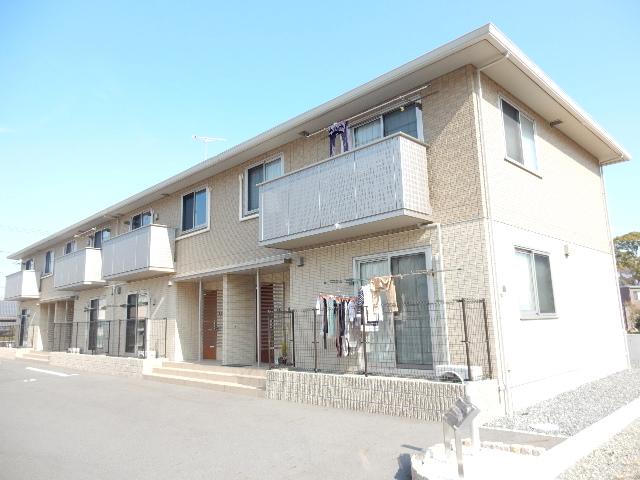 岡山県岡山市南区、迫川駅徒歩5分の築3年 2階建の賃貸アパート