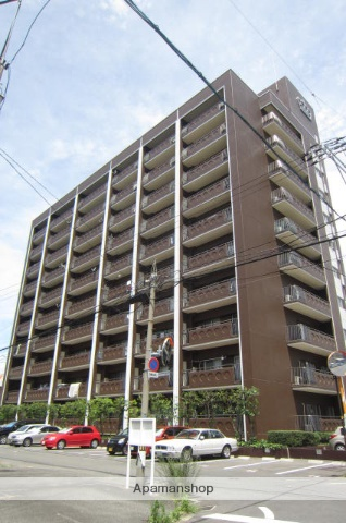 岡山県岡山市北区、岡山駅徒歩16分の築33年 10階建の賃貸マンション