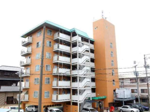 岡山県岡山市北区、庭瀬駅徒歩22分の築37年 7階建の賃貸マンション
