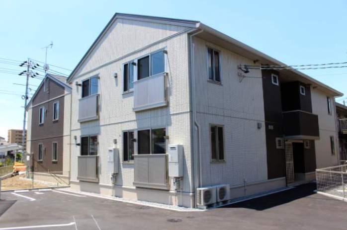 岡山県岡山市北区、法界院駅徒歩6分の新築 2階建の賃貸アパート