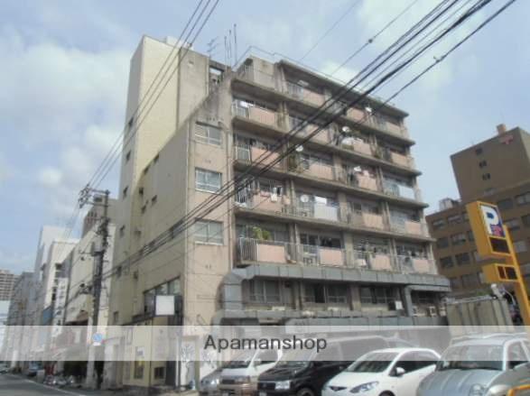 岡山県岡山市北区、郵便局前駅徒歩3分の築45年 7階建の賃貸マンション