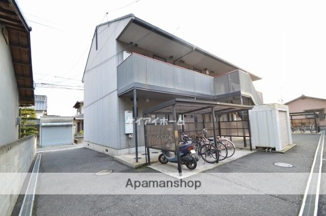 岡山県倉敷市、倉敷駅両備バスバス30分ドンドン下車後徒歩2分の築18年 2階建の賃貸アパート