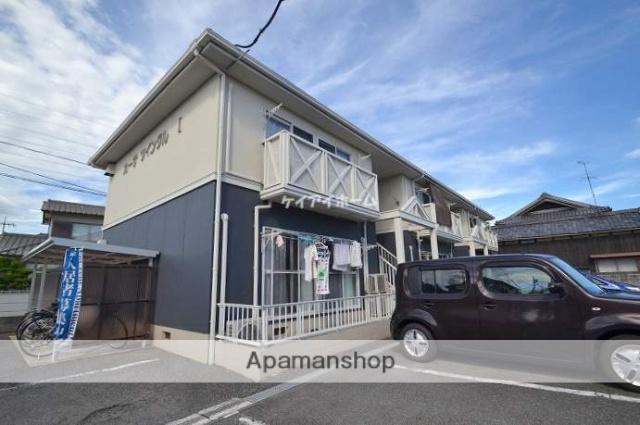 岡山県岡山市南区、岡山駅岡電バスバス25分福田南下車後徒歩8分の築25年 2階建の賃貸アパート