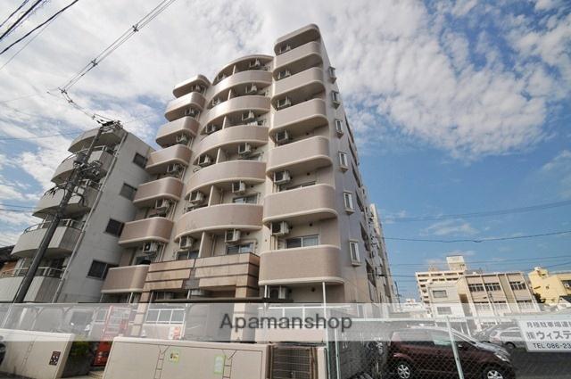 岡山県岡山市北区、岡山駅徒歩25分の築25年 7階建の賃貸マンション