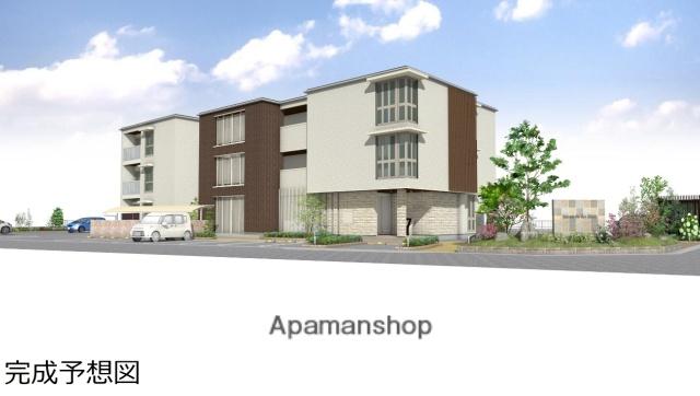 岡山県岡山市中区、高島駅徒歩9分の新築 3階建の賃貸マンション