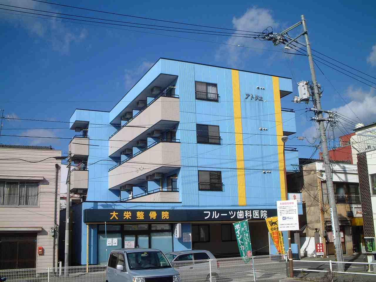 岡山県岡山市中区、門田屋敷駅徒歩4分の築21年 4階建の賃貸マンション