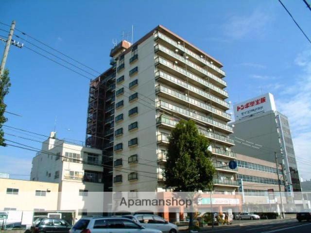 岡山県岡山市北区、岡山駅徒歩20分の築35年 12階建の賃貸マンション