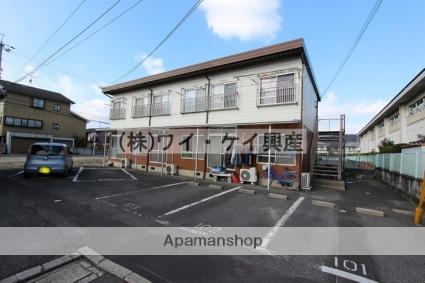 岡山県岡山市北区、庭瀬駅徒歩22分の築40年 2階建の賃貸アパート